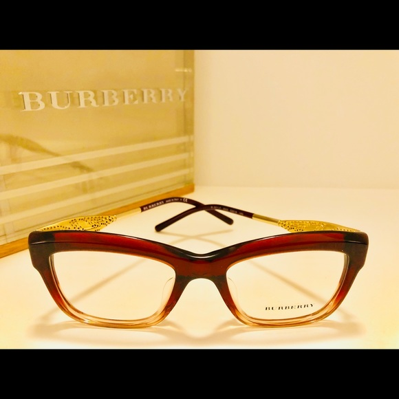 8a7db234b123 Burberry Accessories - Burberry Eyeglasses Cats Eye Burgundy w  Gold New